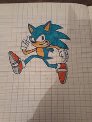 I did not know what to draw, so I draw sonic by LemonTheJuicy