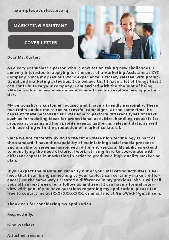 marketing assistant cover letter by JOhnfadric on DeviantArt