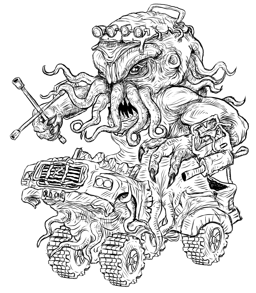 Gamma World Truckthulhu by GerrySwanson