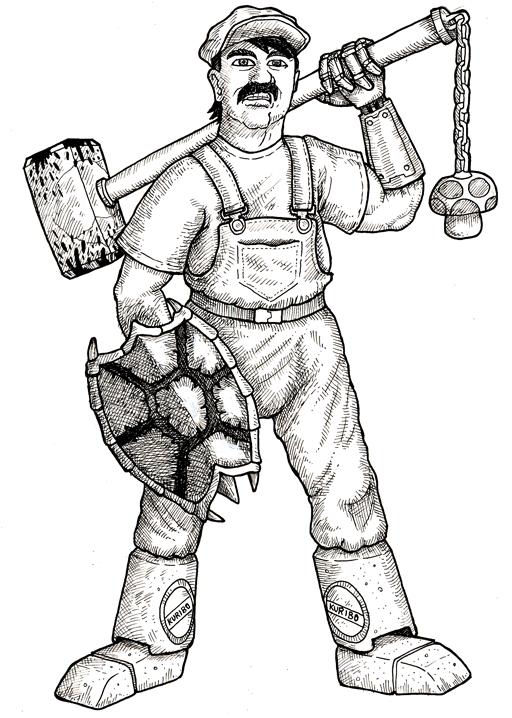 Mario by GerrySwanson