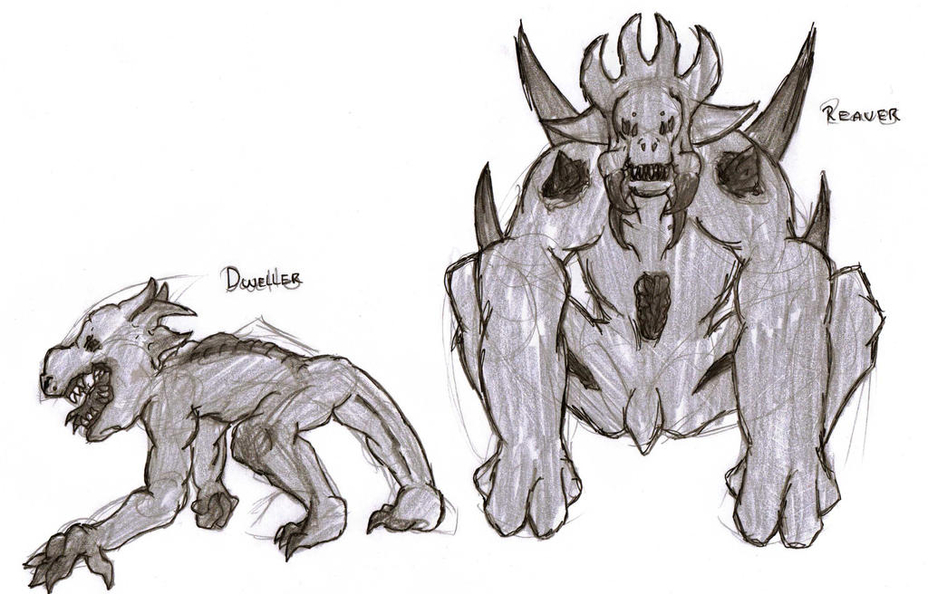 DC Comic project: Void forces Concept sketch by Foxy-Knight