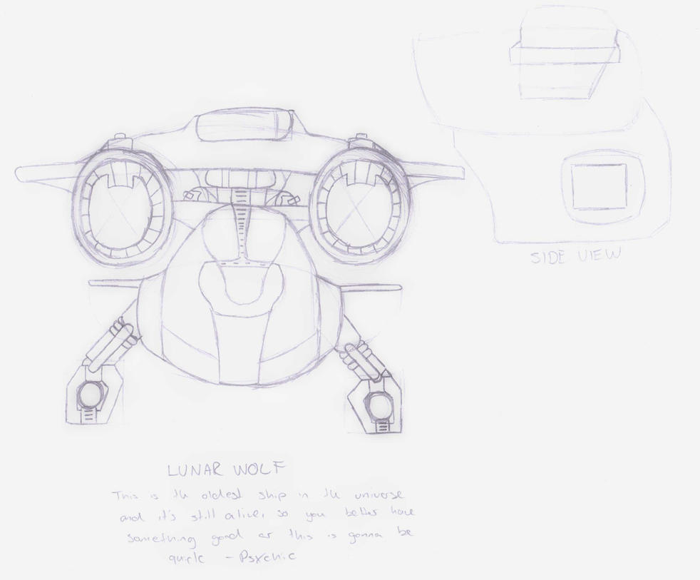 DC Comic Project: Sketch-Lunar Wolf by Foxy-Knight
