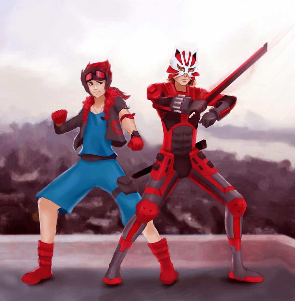 Fox And Okami  Art Commission  By Artdran by Foxy-Knight