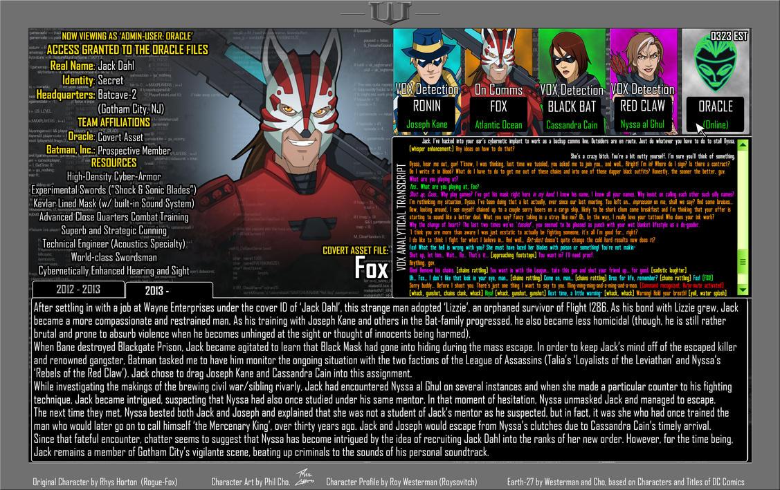 Fox-E27 Oracle File--READ-THE-DESCRIPTION by Foxy-Knight
