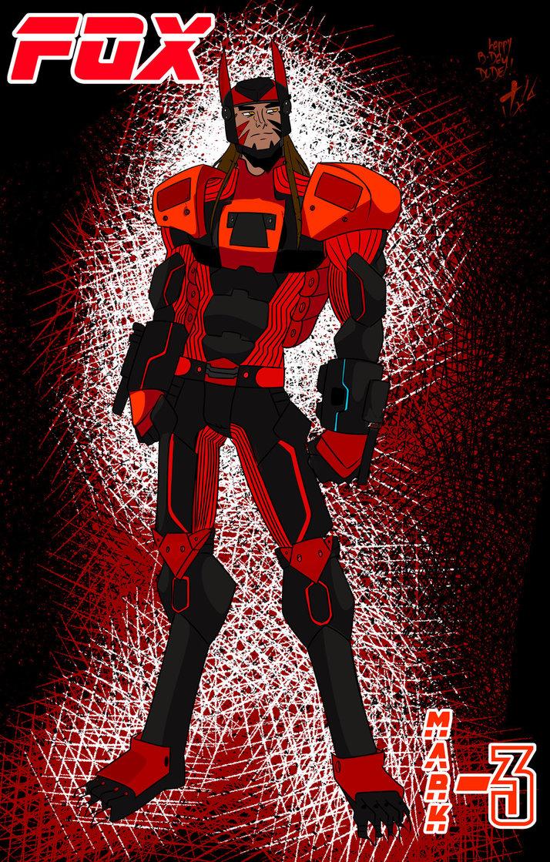 Fox Mark 3 Armour (ART BY TRAUMWELT+SQUIRRELKITTY) by Foxy-Knight