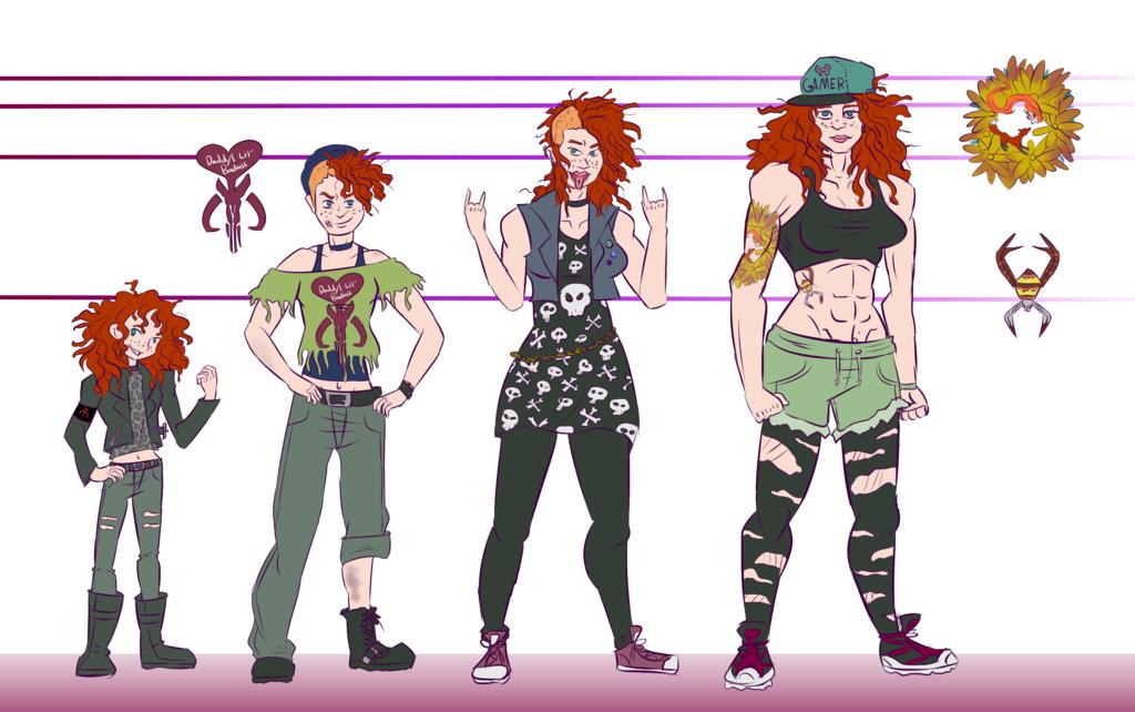 Lizzie Dahl timeline (ART BY SQUIRRELKITTY) by Foxy-Knight