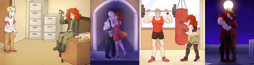 Sam and Lizzie Timeline by Foxy-Knight