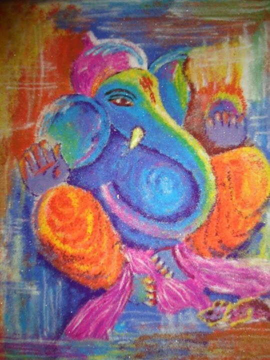 Ganesh Rangoli by siddhiki