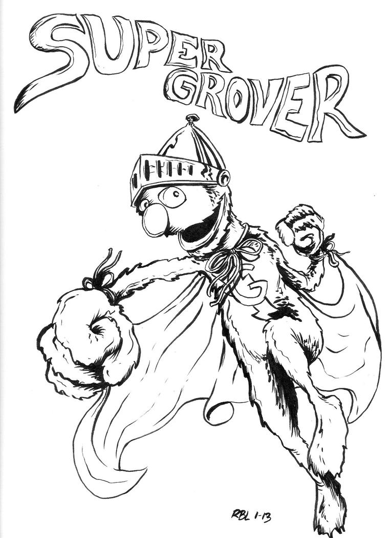 grover pages coloring pages