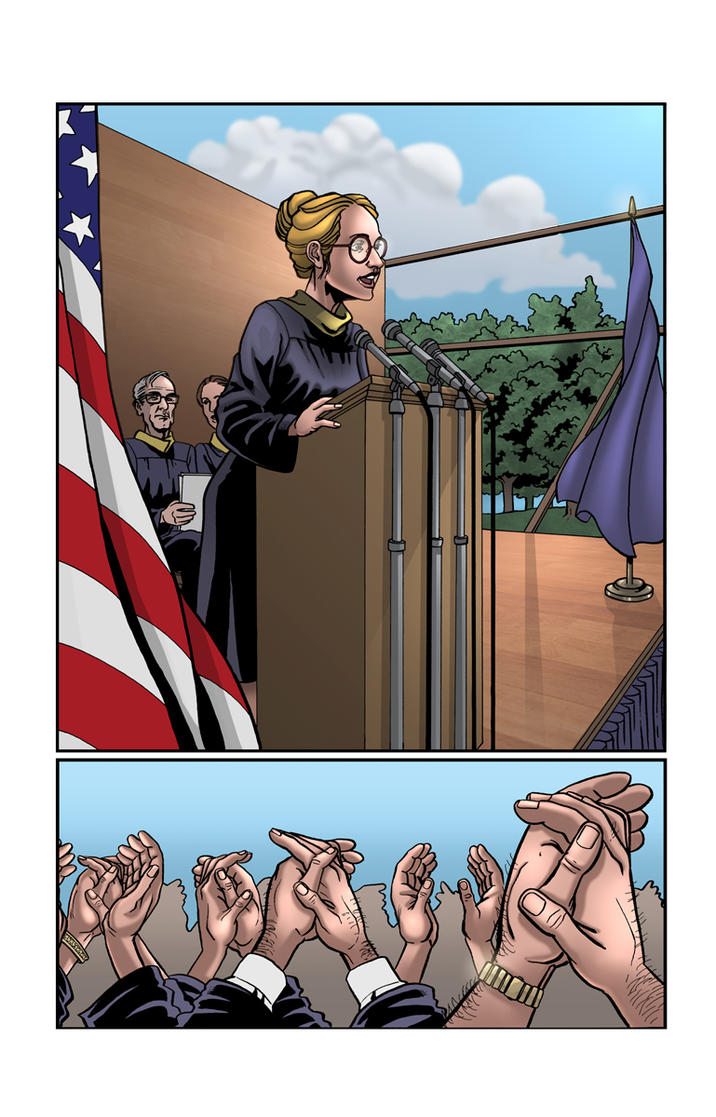 Hillary Clinton Comic Page by thedarkgecko