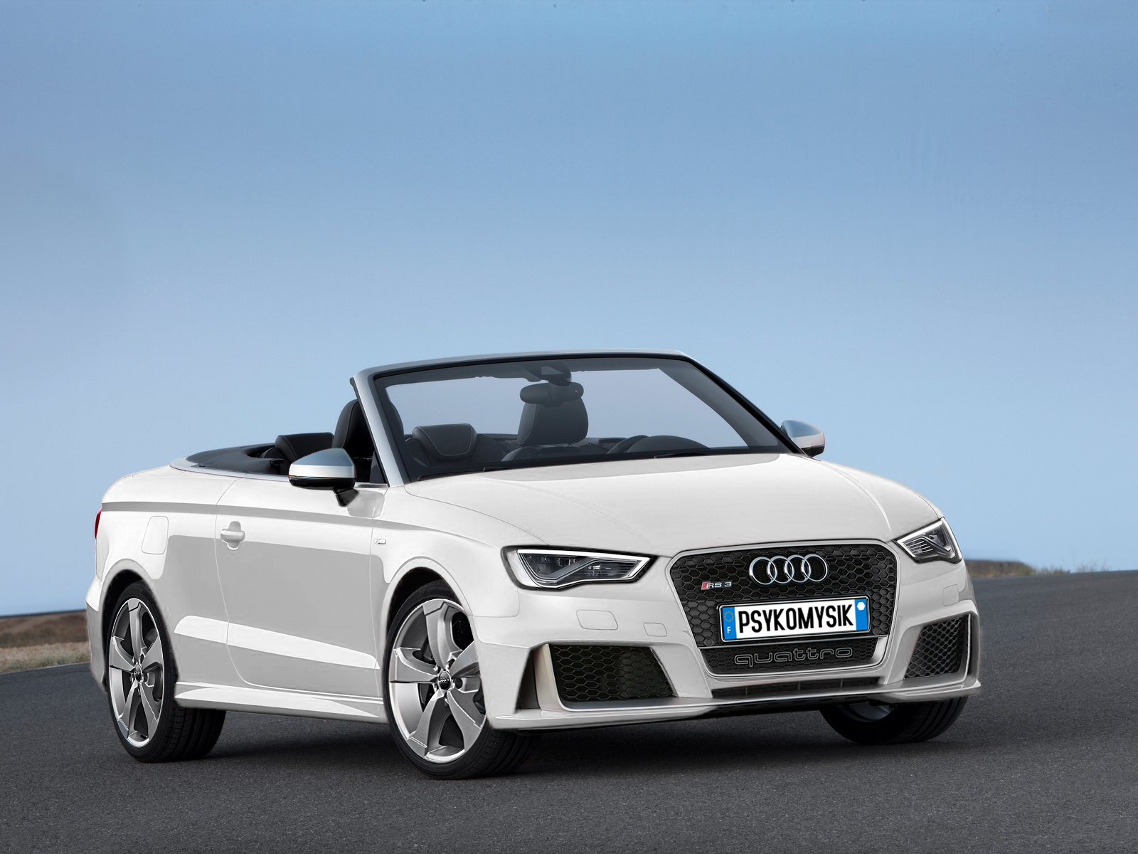 Audi Rs3 Convertible White By Psykomysik By Psykomysik