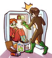 DC: the Flash in refrigerator by dwandwan