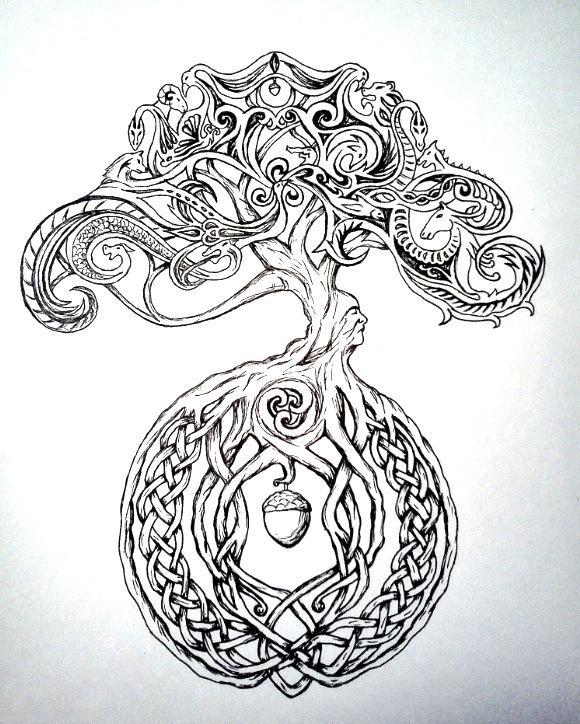 celtic tree of life wallpaper