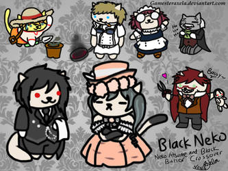 ~A black Butler/Neko Atsume Crossover~ Black Neko by GAmesterAxela