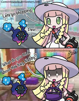 Nebby and Lillie Go Shopping