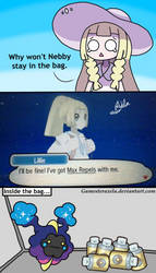 Why Nebby Doesn't Stay In the Bag by GAmesterAxela
