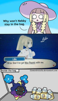 Why Nebby Doesn't Stay In the Bag