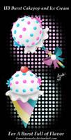 UB Burst Cakepop and Ice Cream