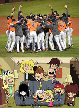 Loud House Kids react to Astros win World Series