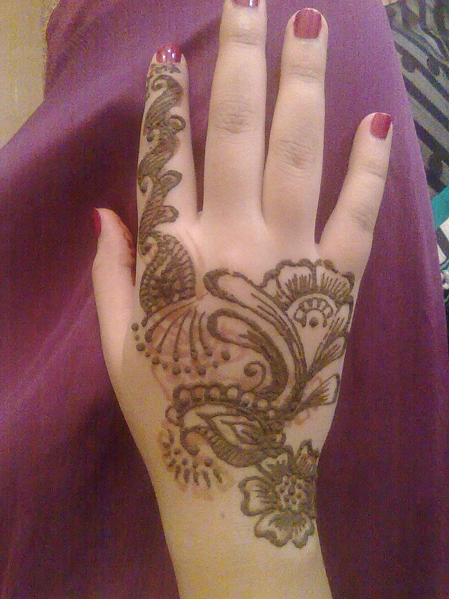 Henna Mehndi On Hand : Henna mehndi designs for hand feet arabic beginners kids