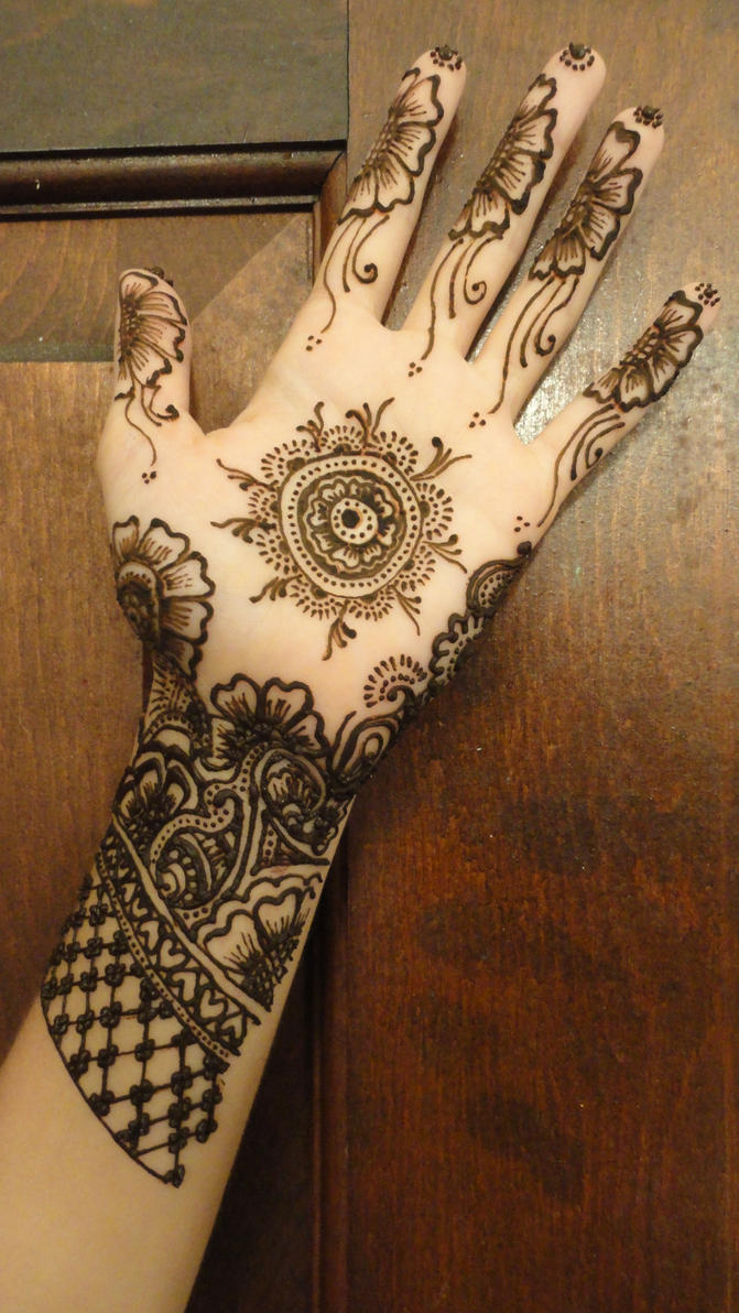 Hand Henna Tattoo Picture 1
