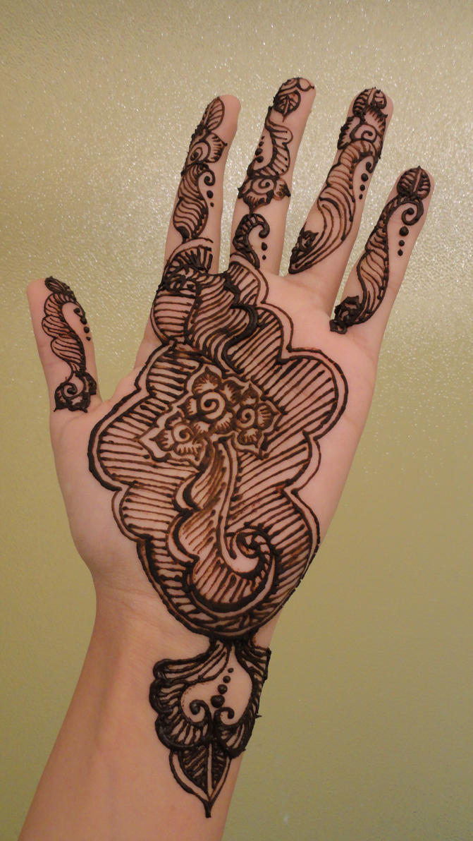 Hand Henna Tattoo Picture 6