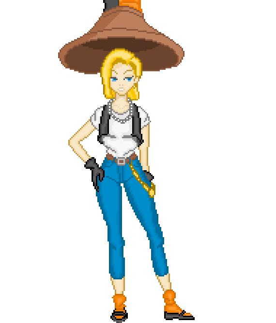 Android 18 And Tail Deviantart: AbsorberCell