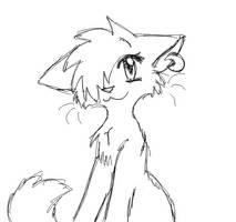Kitty Line Art by Foxheartt