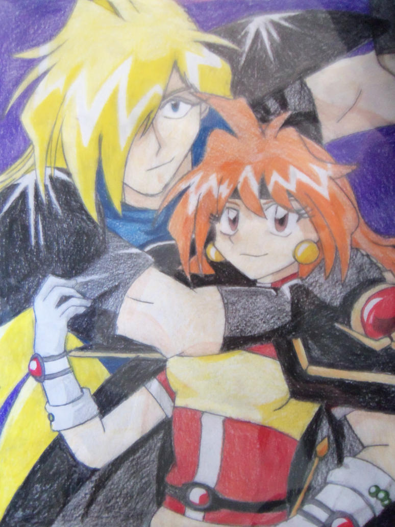 Lina and Gourry- Protective by animedemon77