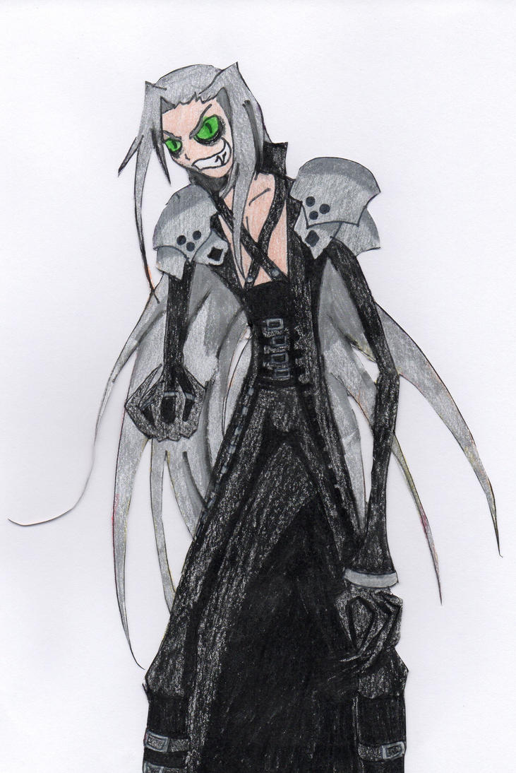 Sephiroth- Tim Burton Style by animedemon77