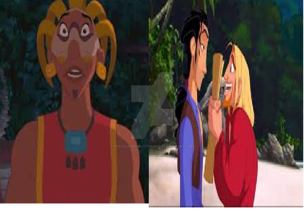 Tzekel-Kan Staring Miguel and Tulio by peacelovehalstewart
