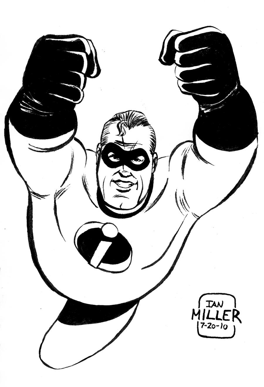 Mr. Incredible Daily Sketch by IanJMiller on DeviantArt