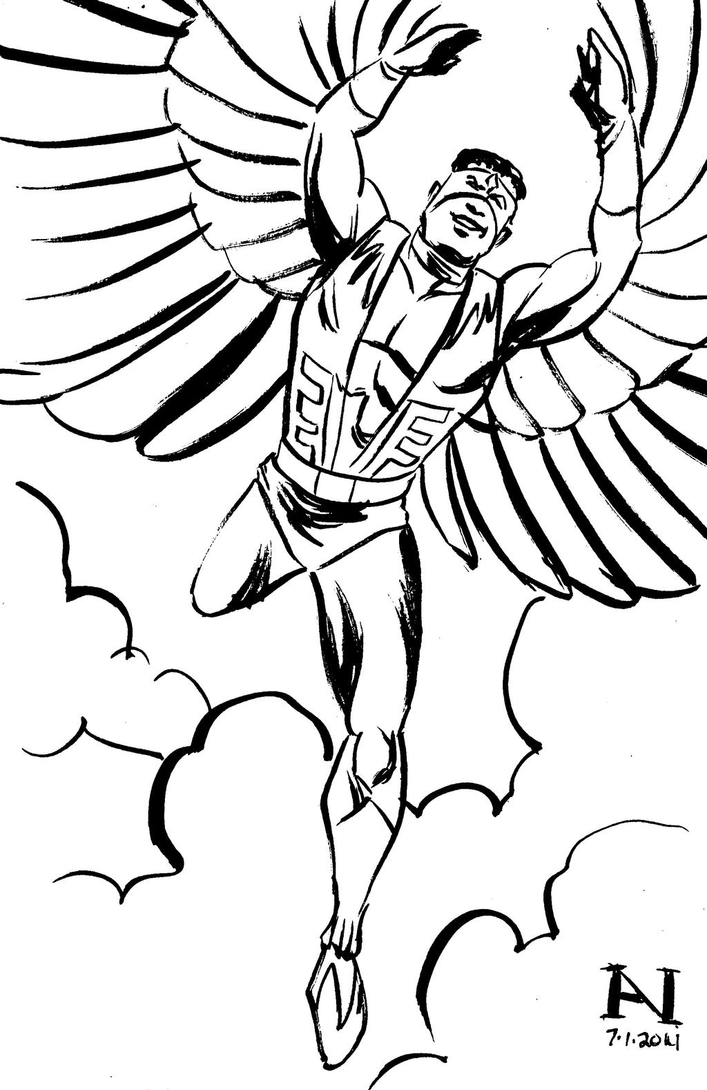 falcon avengers coloring pages - photo#8