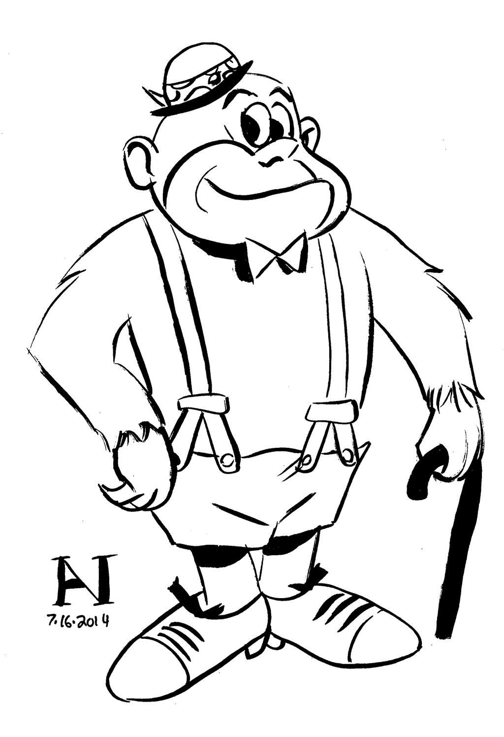 Magilla Gorilla Coloring Pages