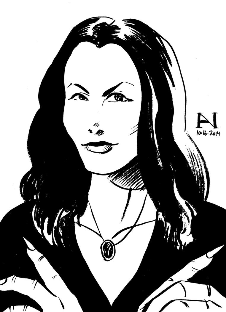 Morticia Addams by IanJMiller
