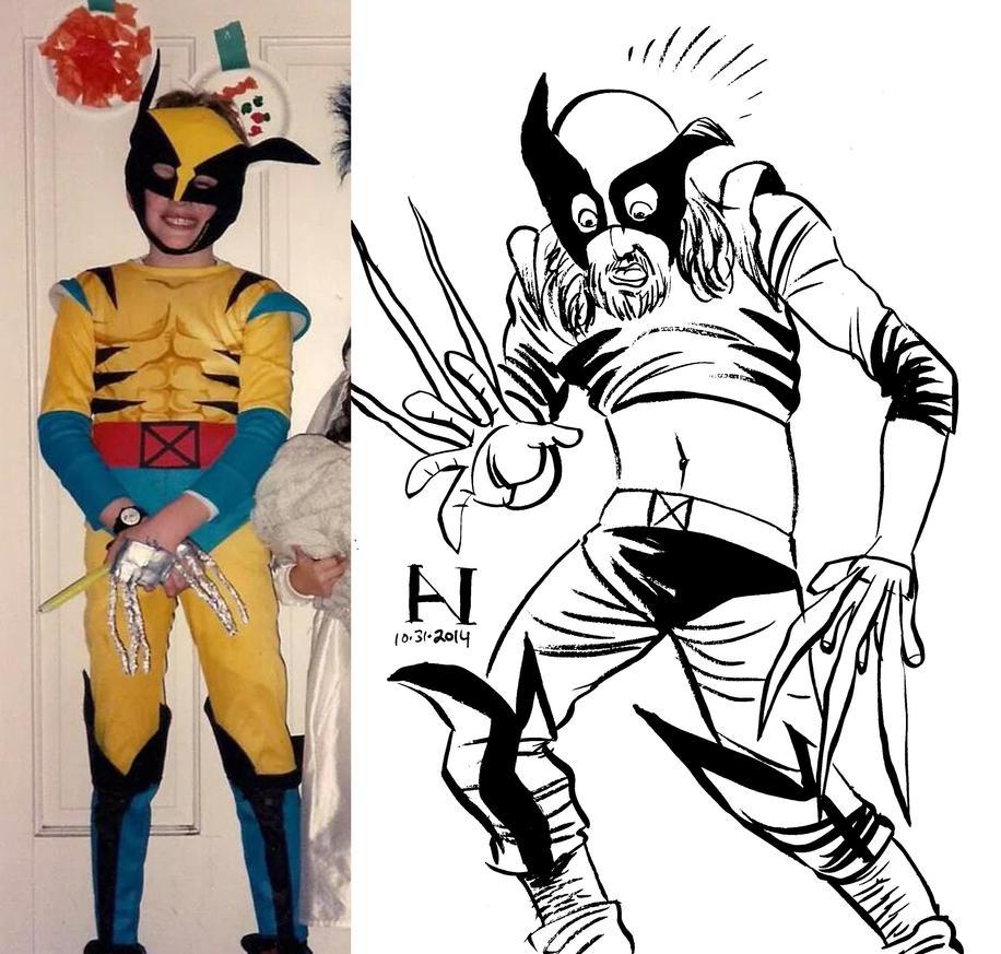 Halloween Costume - 1994 vs. 2014 by IanJMiller