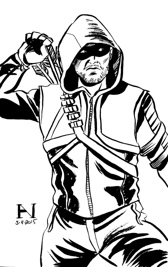 green arrow by ianjmiller - Green Arrow Coloring Pages