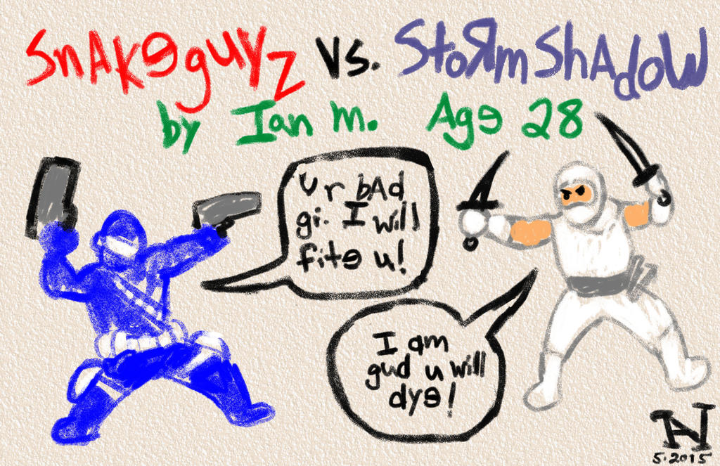 Snake Eyes vs. Storm Shadow by IanJMiller