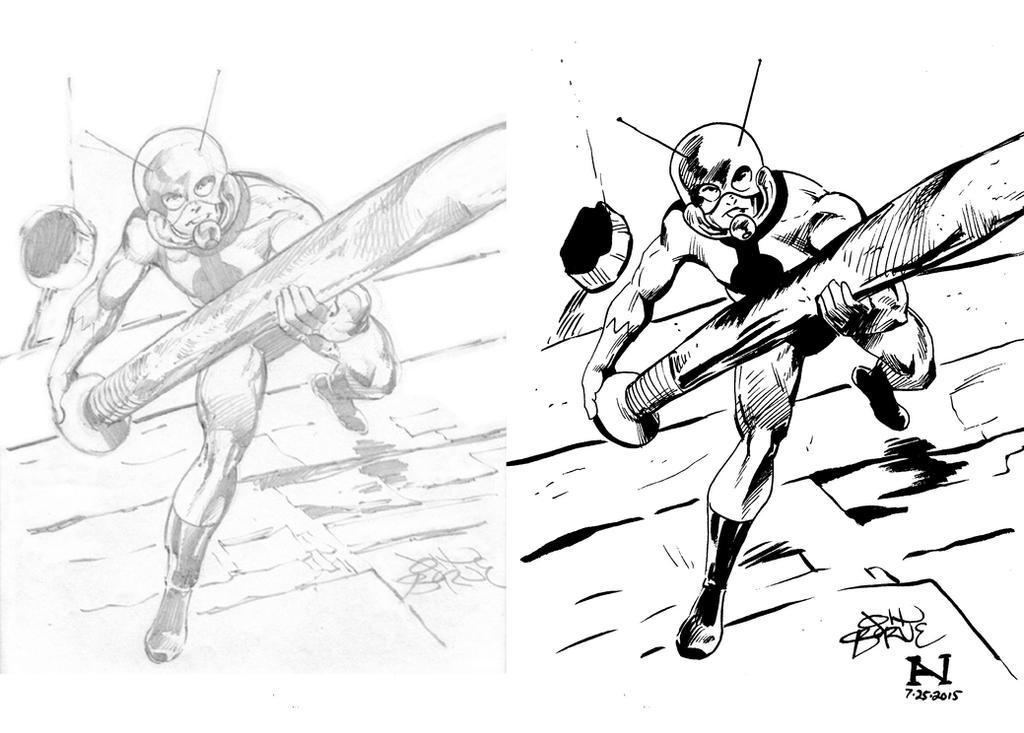 Inking John Byrne's Ant-Man by IanJMiller