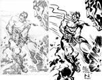 Inking Jack Kirby's Nick Fury by IanJMiller