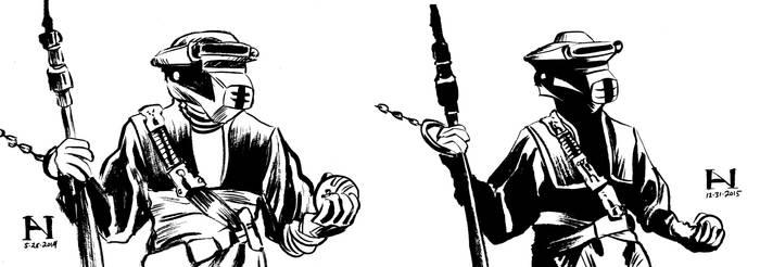 Leia/Boushh - Then vs. Now