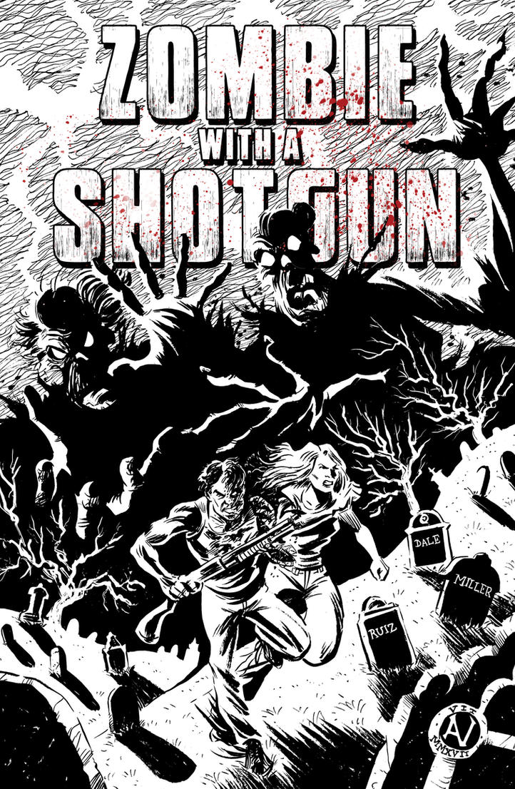 Zombie With A Shotgun #3 cover by IanJMiller