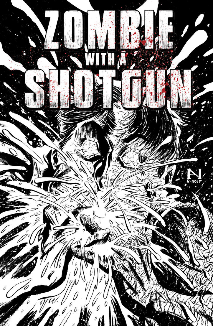 Zombie With A Shotgun #4 cover by IanJMiller