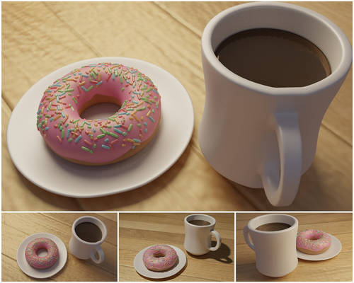 3DWorks 01 - Coffee and Donuts