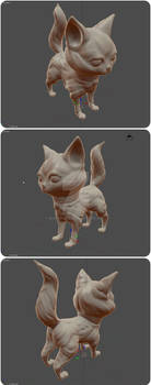 SculptingPractice - Second Cat Attempt More Views