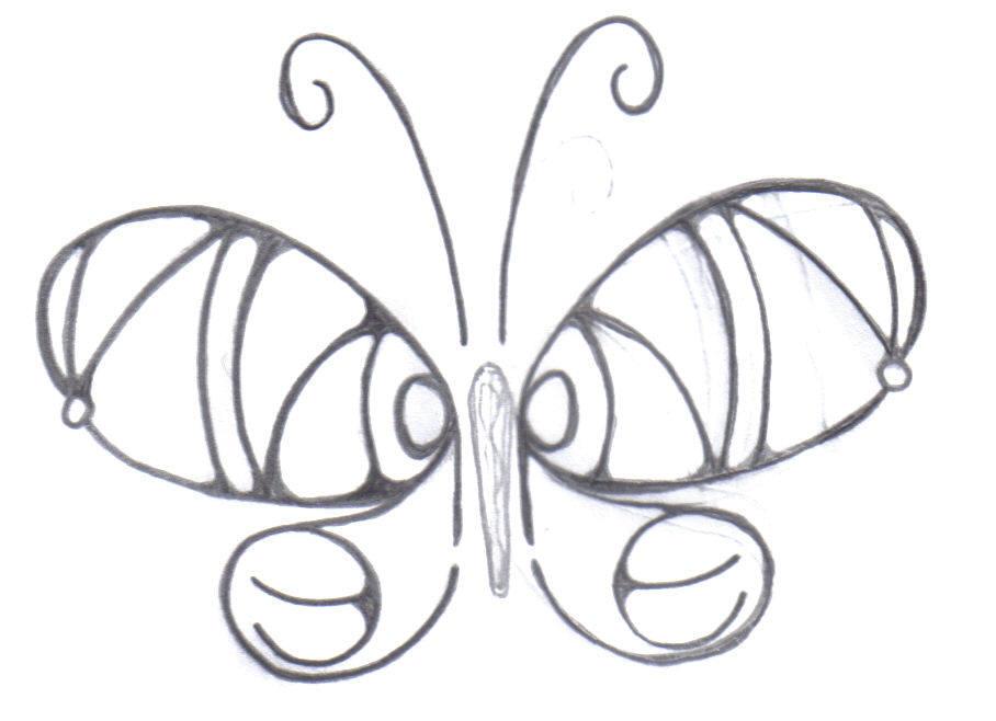 round sinner butterfly - butterfly tattoo