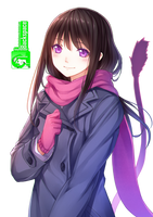 Hiyori Iki (Noragami) - Render by azizkeybackspace