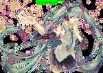 Hatsune Miku (Vocaloid) - Render by azizkeybackspace