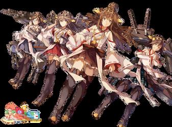 Kongou Class (Kancolle) - Render by azizkeybackspace