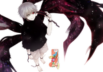 Ken Kaneki (Tokyo Ghoul) - Render v1